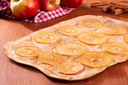 Flammkuchen Premium, Apfelscheiben & Zimtzucker, rustique