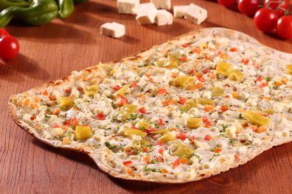 Flammkuchen Premium, Käse, Tomate & Peperoni, Snack